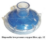 M1161008 Disposable Low Pressure Oxygen Filter for GE/Versamed iVent 201 Ventilator (case of 12)
