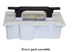 M1161022 Power Pack Assembly for GE/Versamed iVent 201 Ventilator. Also available for DHHS (Yellow) units.