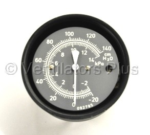 09799 Manometer Gauge, -20 to 120cmH20 Carefusion VIP, 8400ST